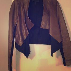 BCBG MaxAzria leather crop jacket